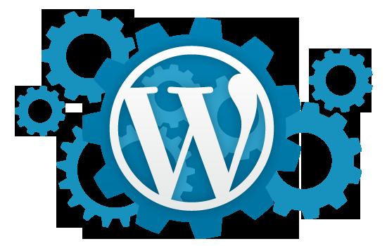 Logo WordPress ingranaggi